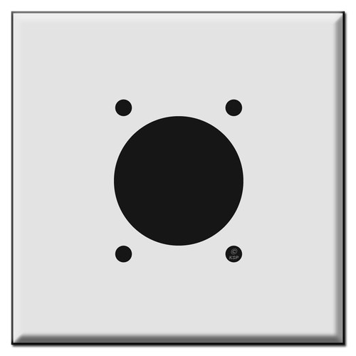 Oversized Range Dryer 2.125'' 30/50/60A Outlet Cover Plates