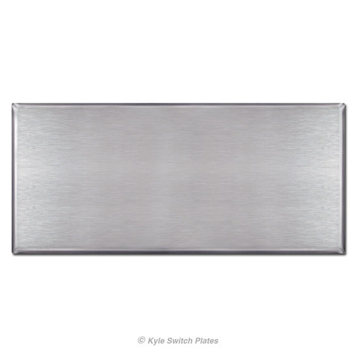 """Oversized 6"""" x 10"""" No Hole Blank Wall Plate - Stainless Steel"""