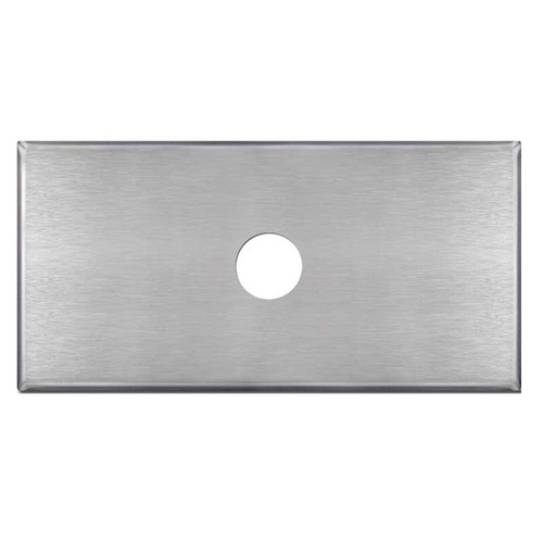 """Oversized 6"""" x 10"""" Wall Plate with 1.375"""" Hole - Stainless Steel"""