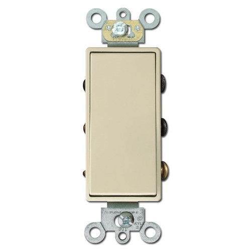 Double-Pole Double-Throw Maintained Contact Ivory Rocker Switch
