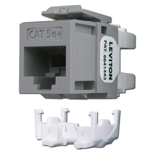 Gray Leviton GigaMax 5e+ Ethernet Jacks