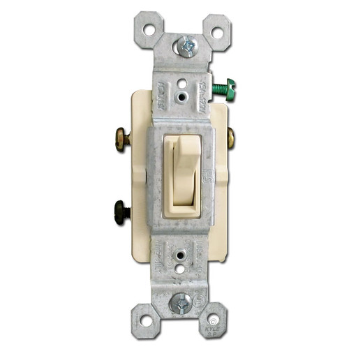 3-Way Ivory Toggle Light Switch