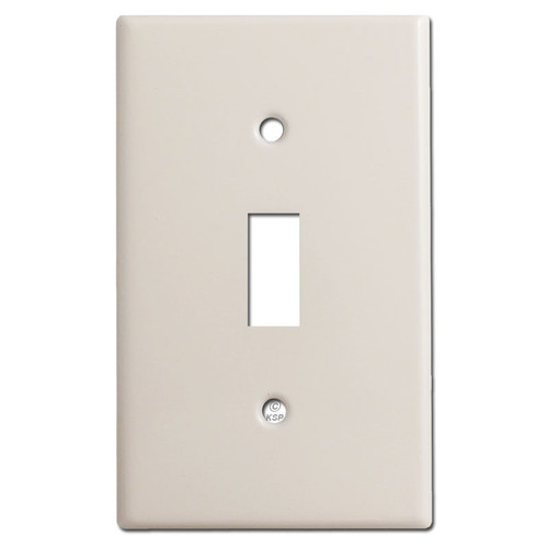 1 Toggle Switch Cover Plates - Light Almond