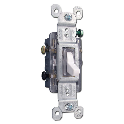 3-way Lighted White Toggle Switches