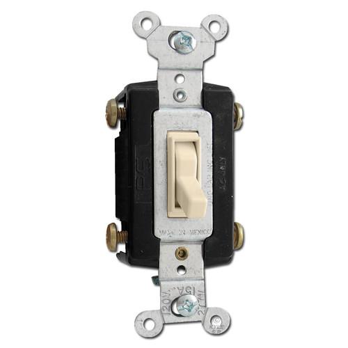 4-Way Ivory Toggle Light Switch