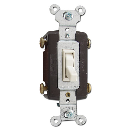 Light Almond 4 Way Toggle Switch