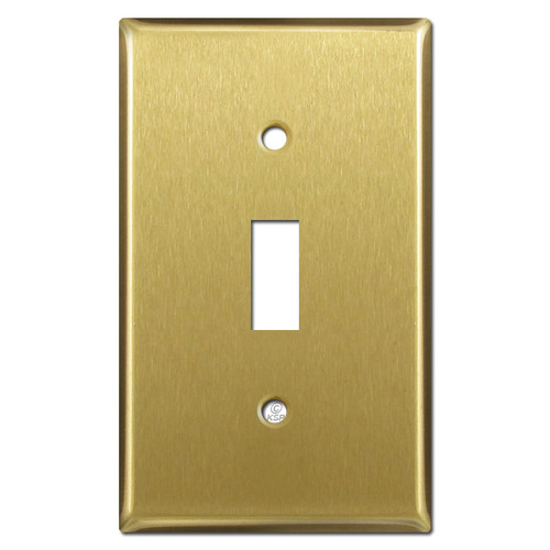 Single Toggle Wall Plates - Satin Brass