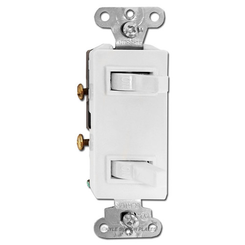 White Decora Double Toggle Switch