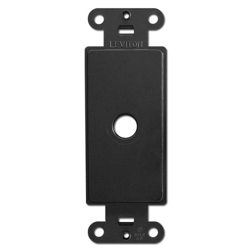 Black Decora Rocker Switch Plate Adapter with Cable Opening