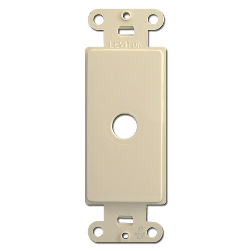 Ivory Decora Rocker Switch Plate Adapter with Cable Opening