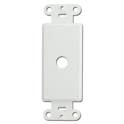 White Decora Rocker to Cable Switch Plate Inserts