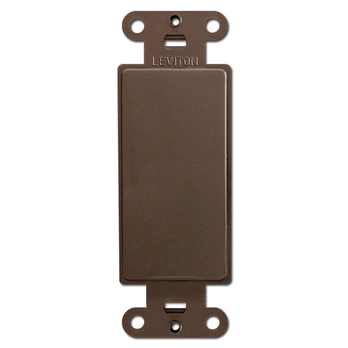 Brown Decora Rocker Wall Switch Plate Filler Insert
