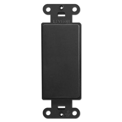 Black Decora Rocker Wall Switch Plate Filler Insert