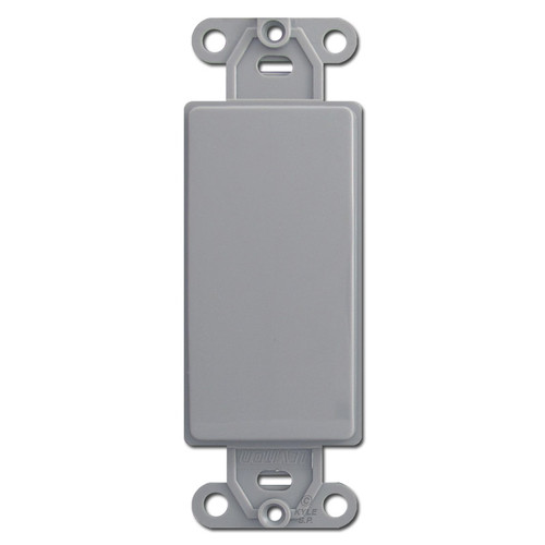 Gray Decora Rocker Wall Switch Plate Filler Insert
