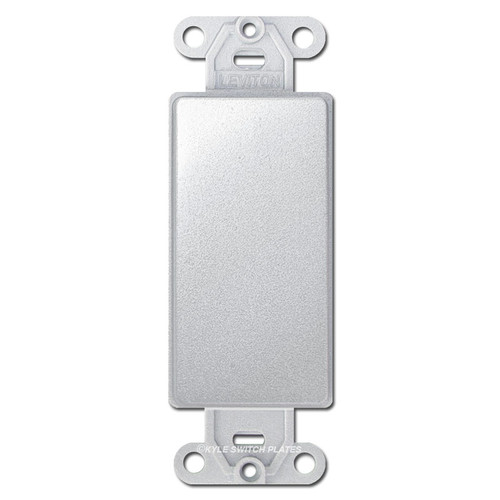 Silver Chrome Decora to Blank Switch Plate Inserts