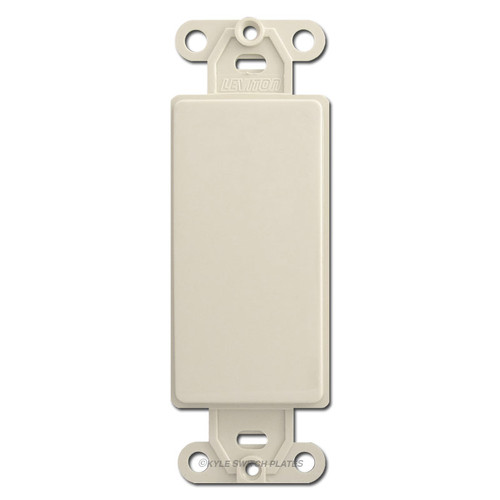 Light Almond Decora to Blank Switch Plate Adapters