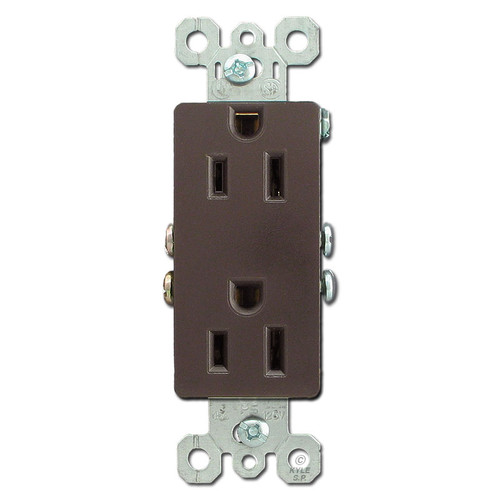 Brown 15A Decorator Outlet Receptacles