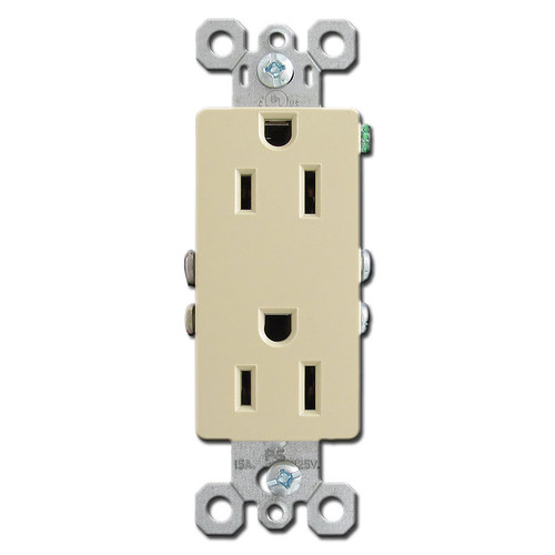 Ivory 15A Block Outlet Receptacle