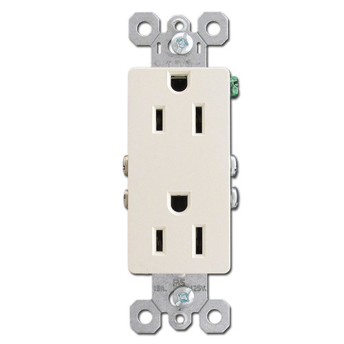 Light Almond 15A Decorator Receptacle Outlets
