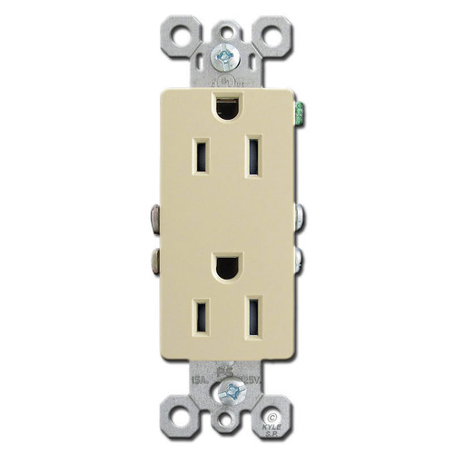 Ivory 15A Tamper Proof Decorator Receptacles