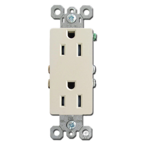 Light Almond 15A Tamper Resistant Outlets