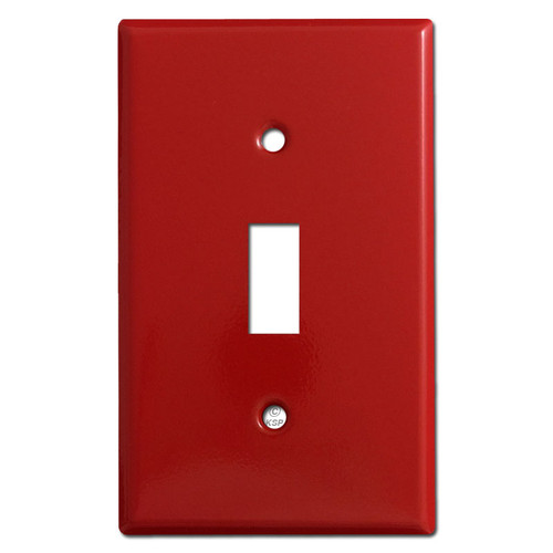 Single Toggle Light Switchplate - Red