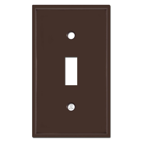Single Toggle Switch Plates - Brown
