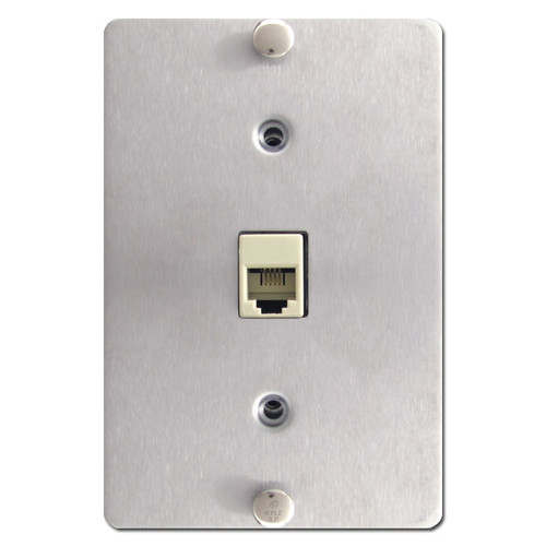 Wall Mount Phone Jack in Stainless Steel