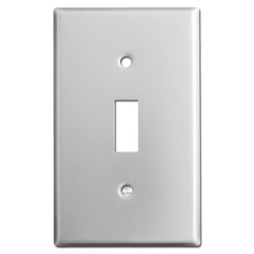 Single Toggle Switch Plate - Brushed Aluminum