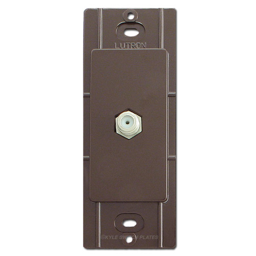 Brown Coaxial Cable Jack for Decorator Cover Plates