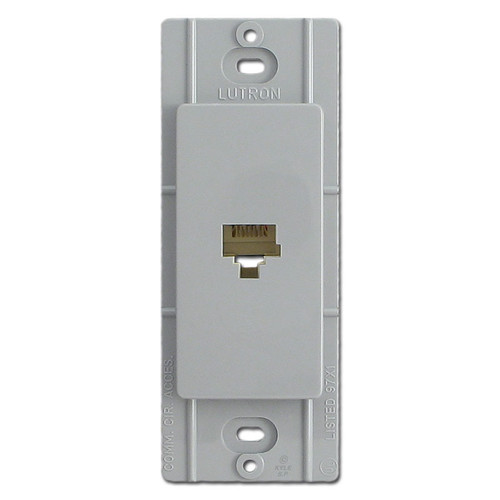 Gray Phone Jack Device for Decorator Switch Plates