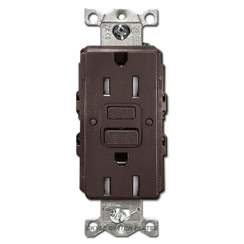 Brown 15A Tamper Resistant GFCI Decora Outlets