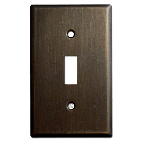 1 Toggle Light Switch Plates - Oil Rubbed Bronze