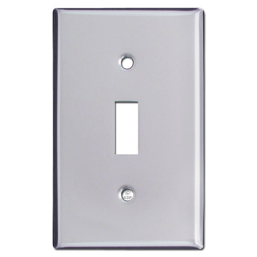 Single Toggle Light Switch Covers - Polished Chrome