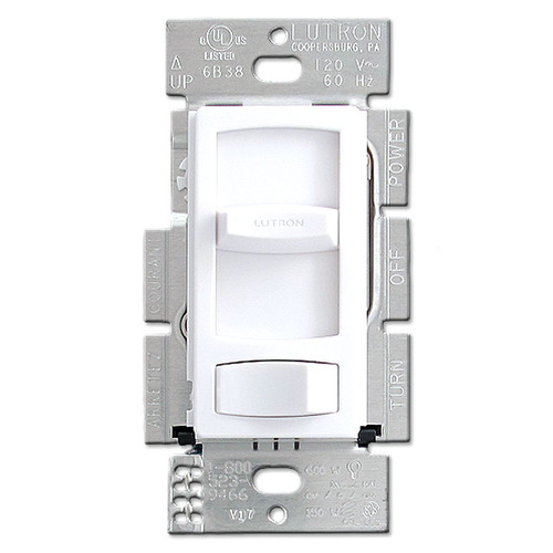 White Lutron Skylark Dimmers for CFL & LED Light Bulbs