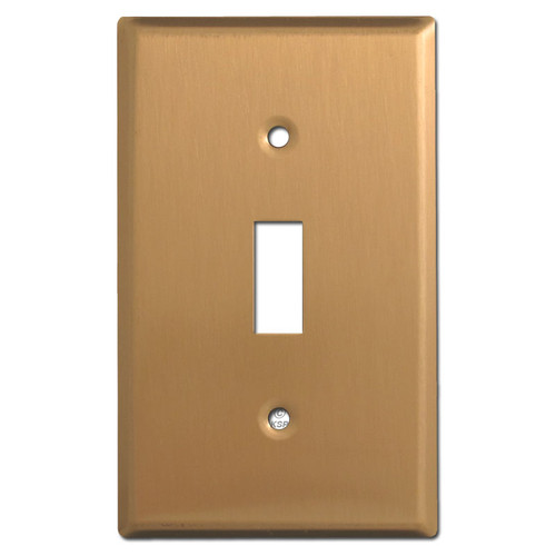 Single Toggle Wall Plate Covers - Satin Bronze
