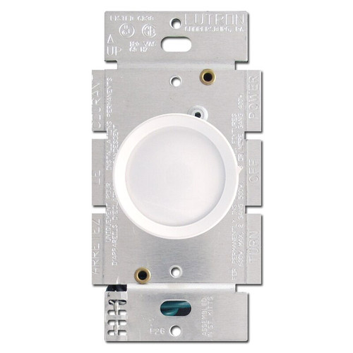 White Lutron Rotary Dimmer Switches