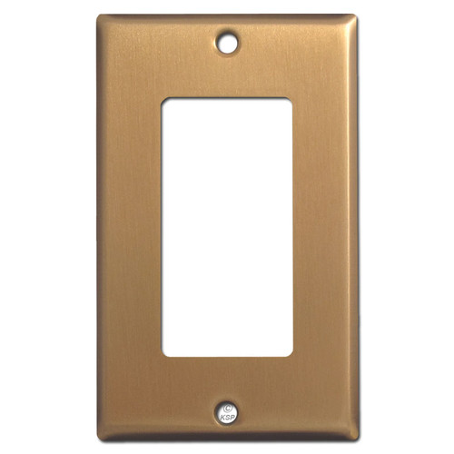 1 GFCI Rocker Wall Switch Plate - Satin Bronze