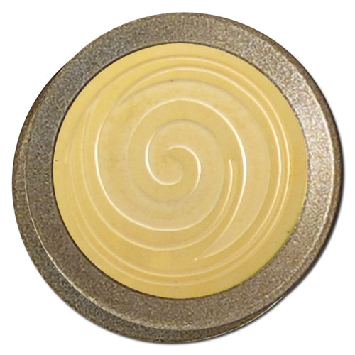 Abstract Spiral Curl Design Round Dimmer Knobs