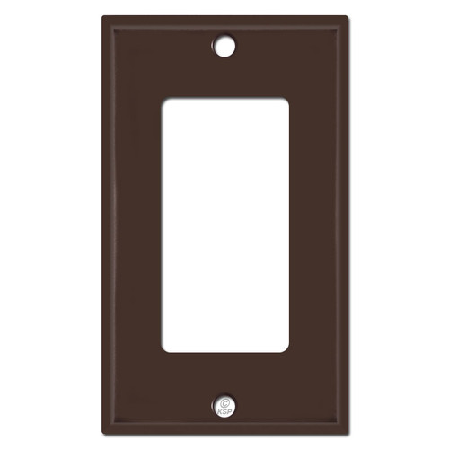 1 GFCI Rocker Wall Switch Plates - Brown