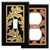 Black Fall Decor - Oak Leaf Switch Covers