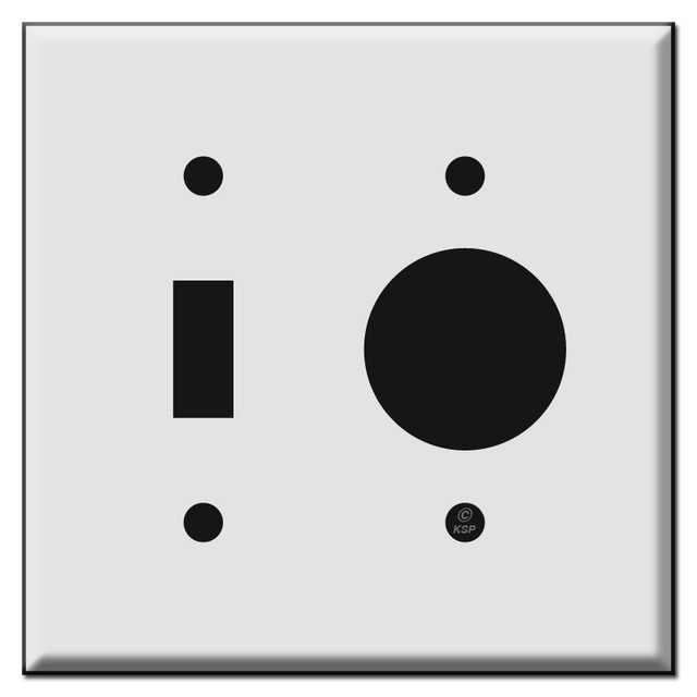 Duplex Receptacle Plus Range or Dryer Power Outlet Covers