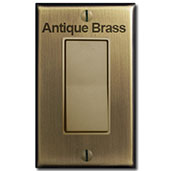 Antique Brass Switches & Covers