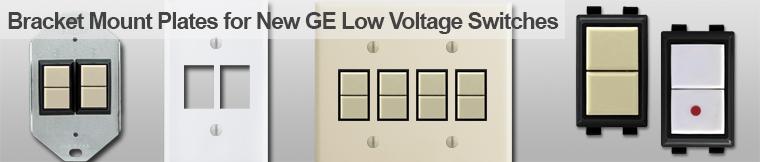 GE Bracket Mount Low Voltage Wall Plates