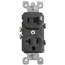 Black Combo Switch and Outlet