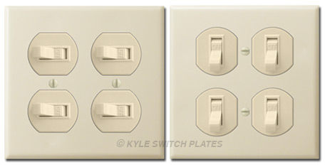 2-Gang Horizontal Toggle Switches