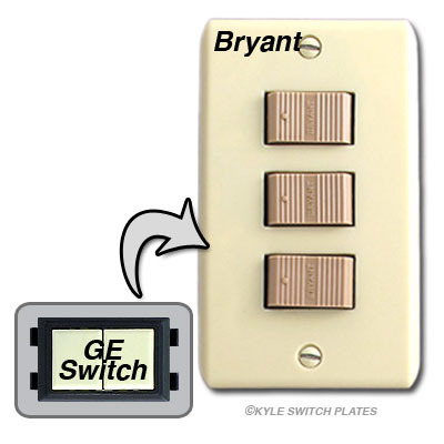 Vintage Low Voltage Bryant Light Switches