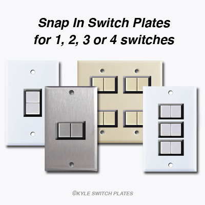 GE Replacement Snap In Switch Plate