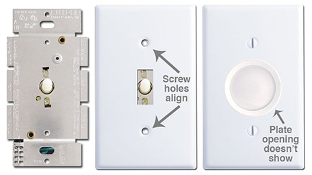 Rotary Dimmer Switch Plates