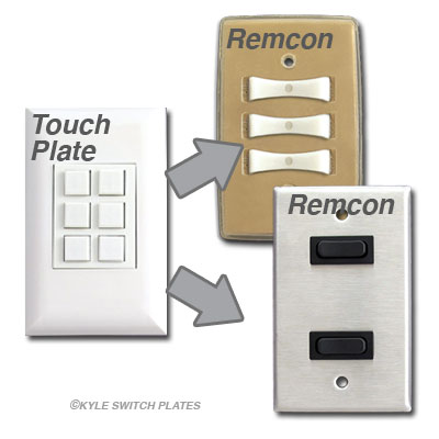 Touchplate Switches Compatible with Remcon Low Volt Switches
